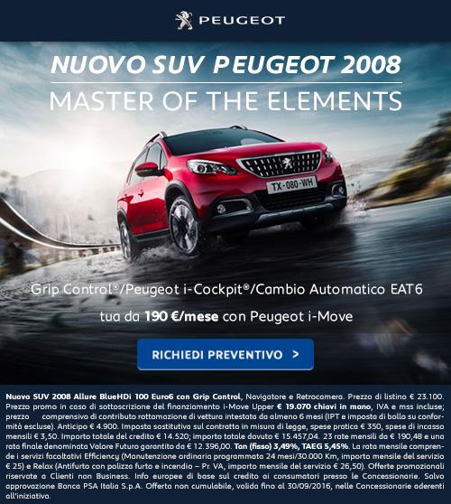 Peugeot 2008: richiedi un preventivo