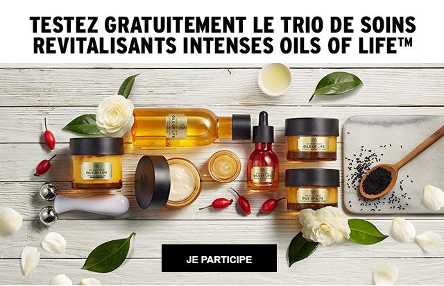 TESTEZ GRATUITEMENT LE TRIO DE SOINS OILS OF LIFE™