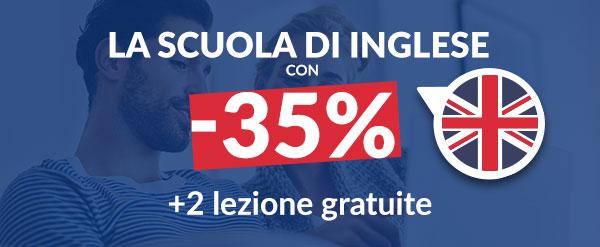 La SCUOLA DI INGLESE con -35% + 2 lezione gratuite