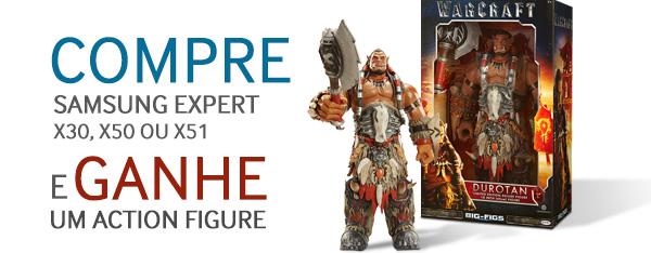 COMPRE  Samsung Expert X30, X50 OU X51 e Ganhe um action figure
