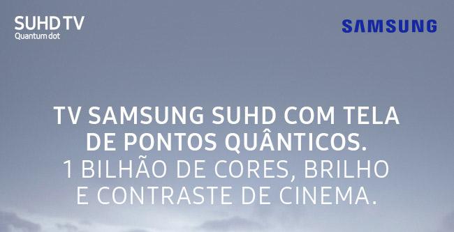 TV Samsung  com Tela de Pontos Quânticos