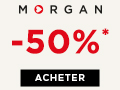 Codes promo Morgan et cashback Morgan - 6 % de réduction