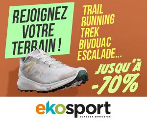 bons plans sur les articles trail chez EKOSPORT : N°1 du sport outdoor et partenaire de runagora
